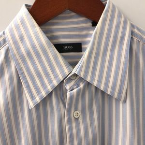 Hugo Boss Dress Shirt Size 17 Like New Condition